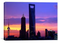 Shanghai Sunset of Pudong, Canvas Print