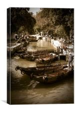 Tongli Watertown Canal, Canvas Print