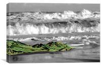 Rope on Balmedie Beach Aberdeenshire Scotland