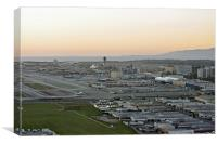 Los Angeles Airport, Canvas Print