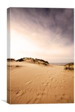 Race you to the sea! Holkham, Norfolk, Canvas Print