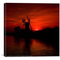 Turf Fen Sunset, Canvas Print