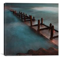 Overstrand sea defences, Canvas Print