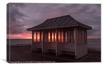 Pier shelter, Canvas Print