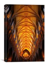 Wells Cathedral ceiling, Canvas Print