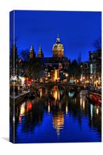 Reflections of Amsterdam, Canvas Print