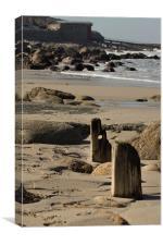 low tide sennen beach