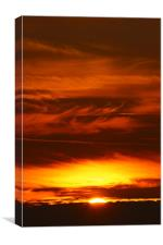 fiery sky, Canvas Print