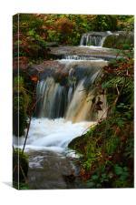 quiet cornish waterfall