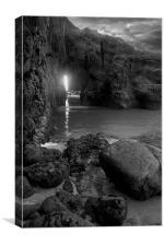 light through rock