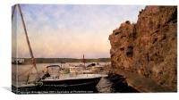 Cala Fonts Menorca Monet Style, Canvas Print