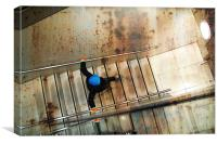 Sureal Staircase Mystery, Canvas Print