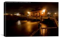 New Mills Yard, Canvas Print