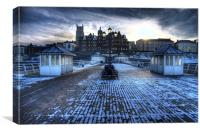 CROMER PIER WINTER 2010, Canvas Print