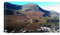 Buttermere Mirror 2, Canvas Print