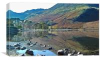 Buttermere Mirror, Canvas Print