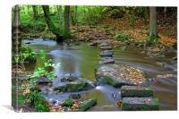 Autumn River Stones, Canvas Print