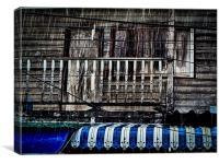 Rain on Blue, Canvas Print