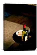 Bread and wine, Canvas Print