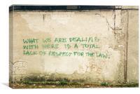 Graffiti: Estonia, Canvas Print
