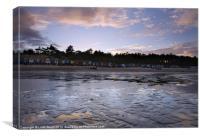 Beach Huts at sunset, Wells-next-the-sea, Canvas Print