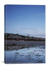 Lighthouse and Cliffs at Dawn. Old Hunstanton, Nor, Canvas Print