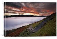 Derwent Water below cloud at sunrise.