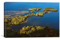 Jetty on Derwent Water near Great Bay., Canvas Print