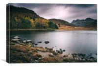 Clouds over Blea Tarn with Langdale Pikes beyond.