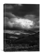 High Rigg and Dale Bottom, Lake District, UK, Canvas Print
