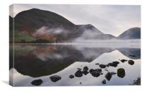 Reflections and fog at sunrise. Brothers Water, Cu