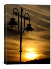 Street lighting at Dawn