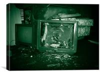 Destruction of Television, Canvas Print