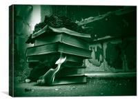 Destruction of Books, Canvas Print