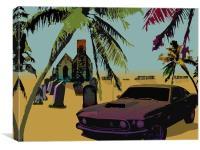Muscle Car, Canvas Print