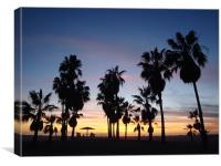 Santa Monica Sunset, Canvas Print