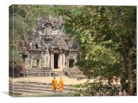 Temple Monks, Canvas Print