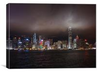 HK Island Lights, Canvas Print