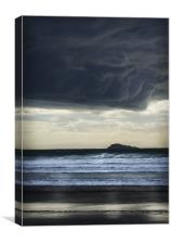 NIGHT CLOUDS OVER WHITESANDS PEMBS, Canvas Print