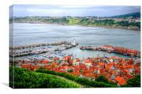 Scarborough Harbour, Canvas Print