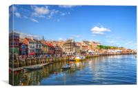 Whitby Harbour Seascape Fine Art Photograph, Canvas Print