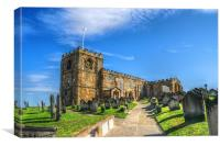 St. Marys Church Whitby., Canvas Print