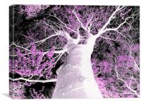 Psychedelic Tree, Canvas Print