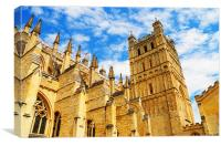 Exeter Cathedral, Canvas Print