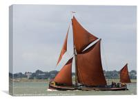 Thames Barge Repertor, Canvas Print