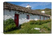 Manx Tholtan Cottages, Canvas Print