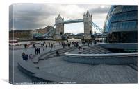 Tower Bridge and City Hall, Canvas Print