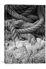 Tangled rope, Canvas Print