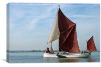 Thames Barge Reminder, Canvas Print