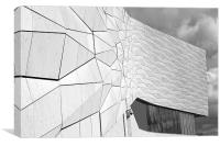 Museum of Liverpool B&W, Canvas Print